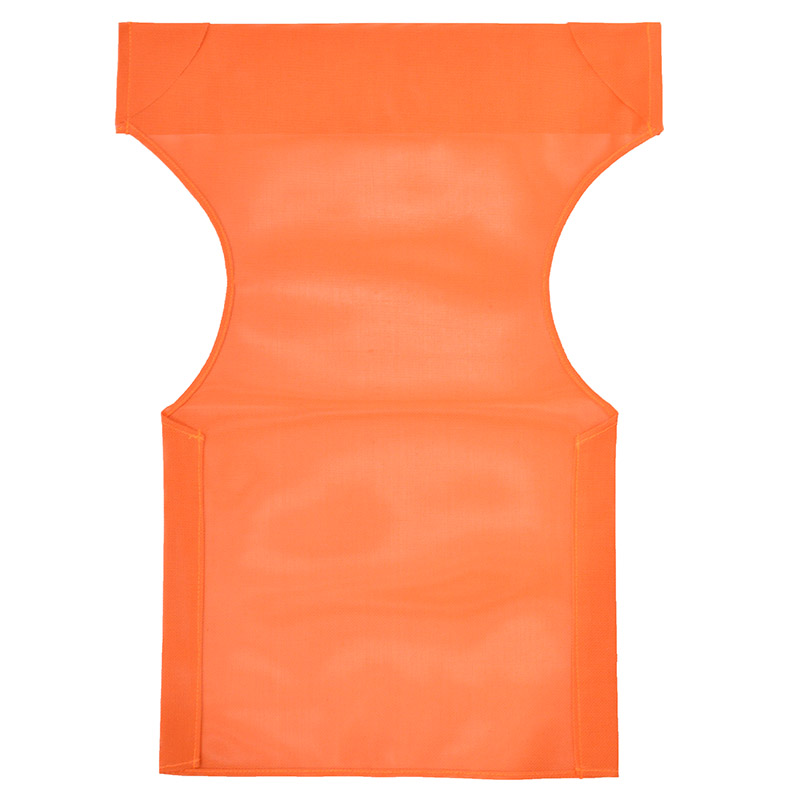 transparent fabric pakoworld for director's chairs color orange  for professional use