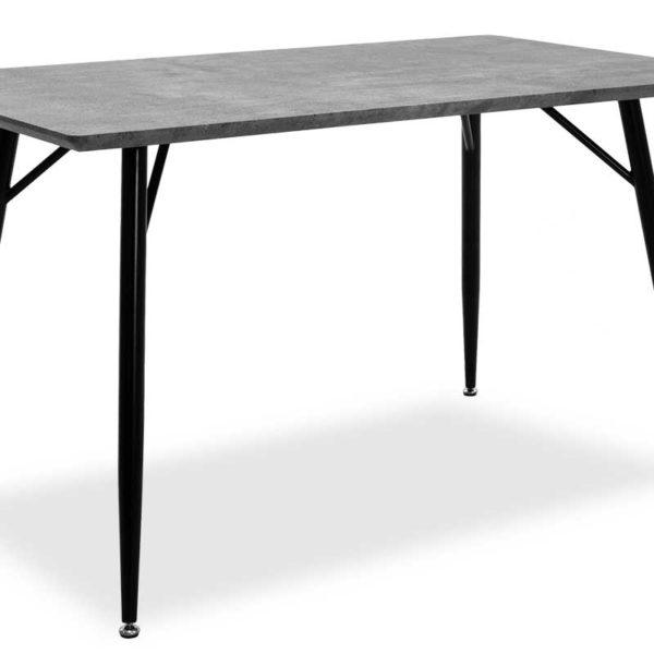 Τραπέζι Conor pakoworld με επιφάνεια MDF χρώμα γκρι cement πόδι μεταλλικό μαύρο 130x80x75