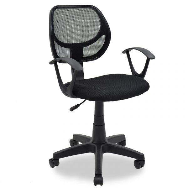 Παιδική καρέκλα εργασίας Sara pakoworld με ύφασμα mesh χρώμα μαύρο