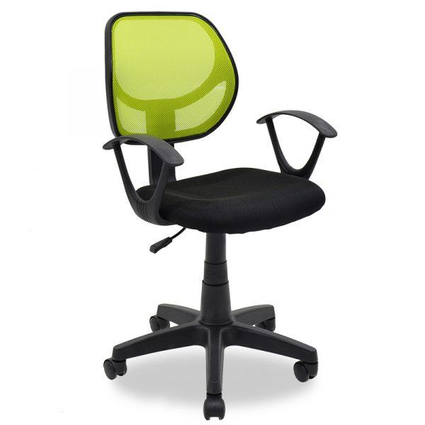 Παιδική καρέκλα Sara pakoworld με ύφασμα mesh χρώμα μαύρο-πράσινο