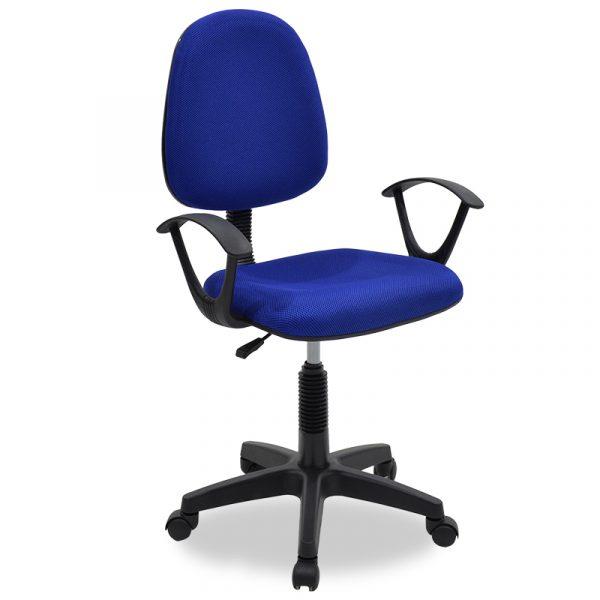 Καρέκλα γραφείου εργασίας Maria pakoworld με ύφασμα mesh χρώμα μπλε
