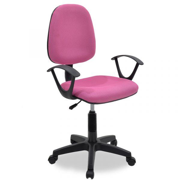 Καρέκλα γραφείου εργασίας Maria pakoworld με ύφασμα mesh χρώμα ροζ
