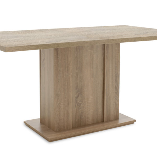 Τραπέζι Federico pakoworld ορθογώνιο χρώμα sonoma 160x90x75