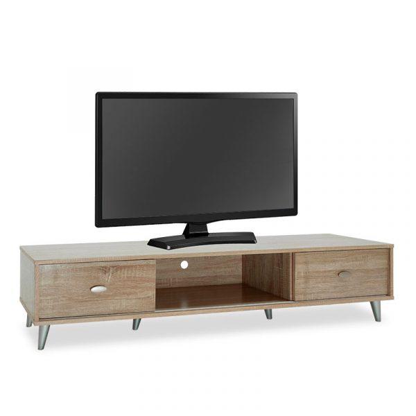 Έπιπλο τηλεόρασης FIRENZE pakoworld χρώμα sonoma 150x40x33εκ