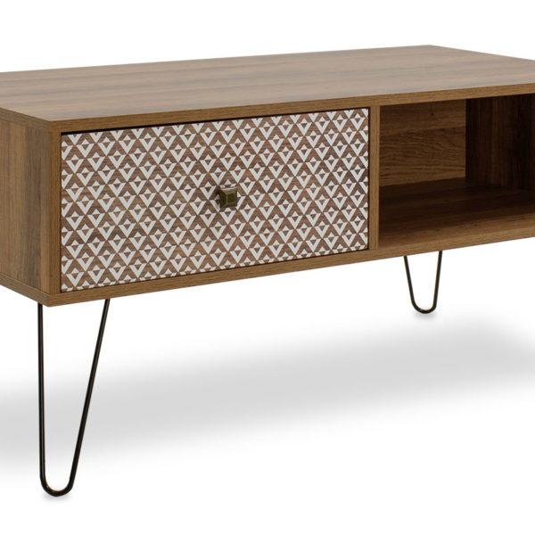 Coffee table dresser Boho pakoworld in walnut color 100x50x46cm