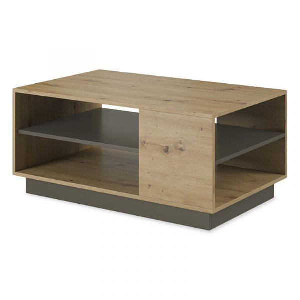 Τραπέζι σαλονιού Arco pakoworld χρώμα sonoma-ανθρακί 100x60x45