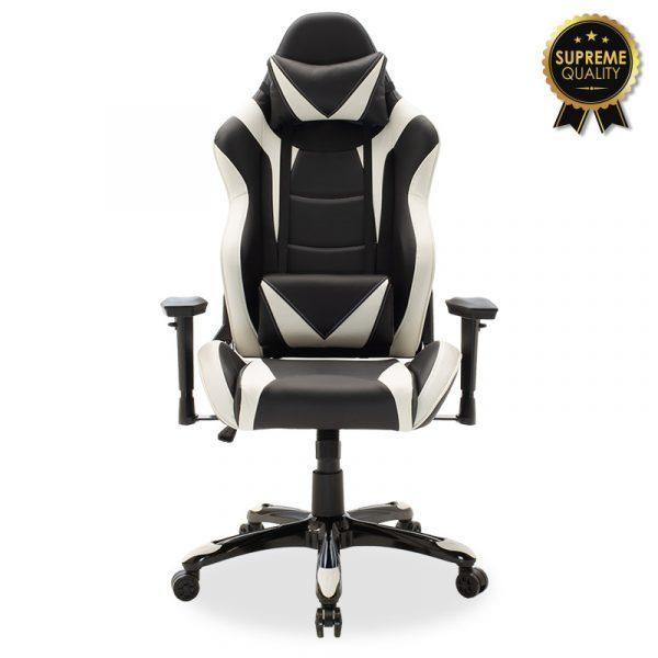 Καρέκλα γραφείου Russell-Gaming SUPREME QUALITY pu  μαύρο-λευκό