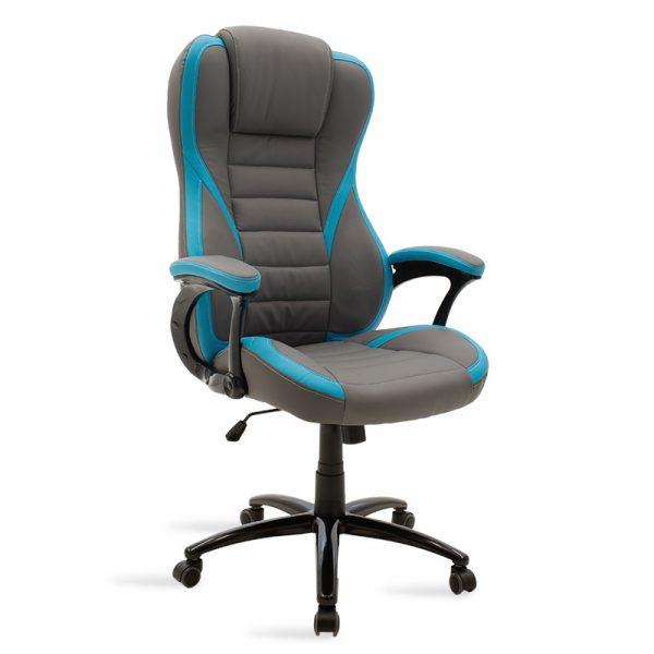 Καρέκλα γραφείου Starr gaming pakoworld pu γκρι-σιέλ