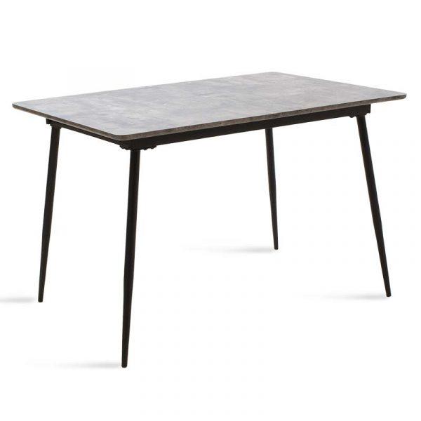 Τραπέζι Shazam pakoworld MDF επεκτεινόμενο χρώμα γκρι cement 120-160x80x76εκ