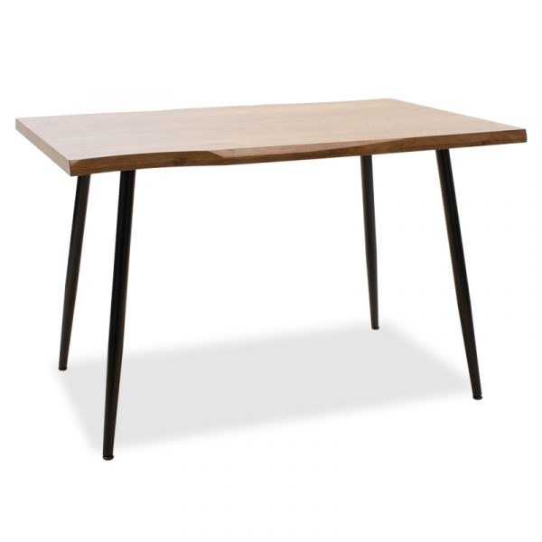 Τραπέζι Neve pakoworld MDF καρυδί-πόδι μεταλλικό μαύρο 120x80x75εκ