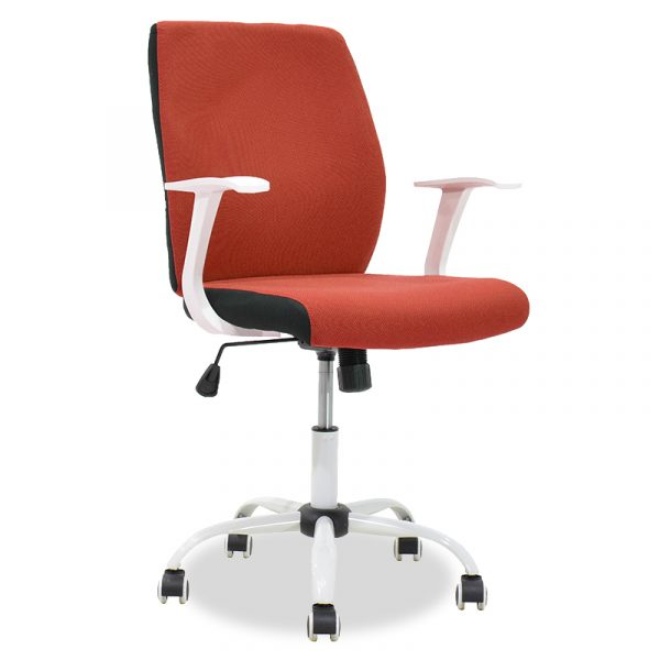 Labor office armchair Memory pakoworld metal with PU tile-white colour