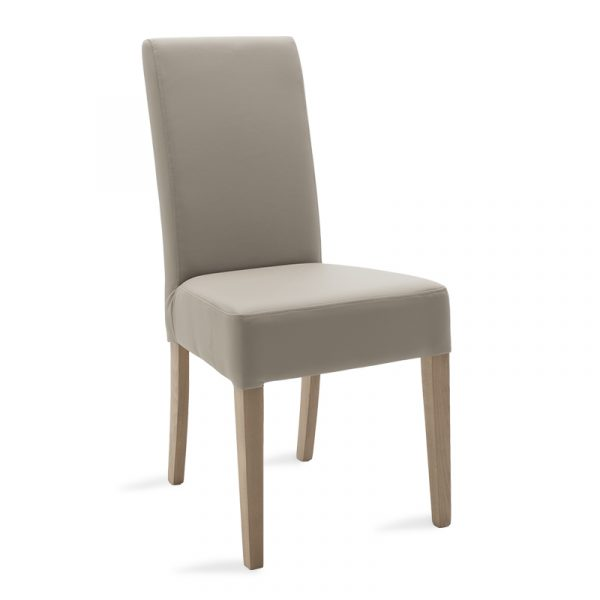Wooden chair Ditta pakoworld with grey pu - wooden legs sonoma