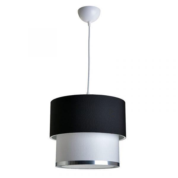 Φωτιστικό οροφής PWL-0963 pakoworld Ε27 μαύρο-λευκό Φ30x55εκ