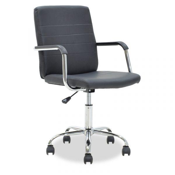 Καρέκλα γραφείου εργασίας DOGGY pakoworld τεχνόδερμα μαύρο