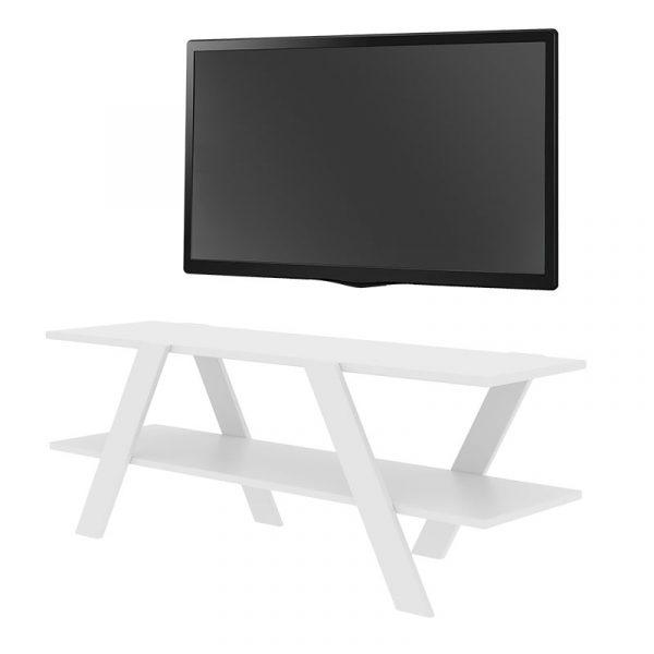 Έπιπλο τηλεόρασης PWF-0420 pakoworld λευκό 120x33x45εκ