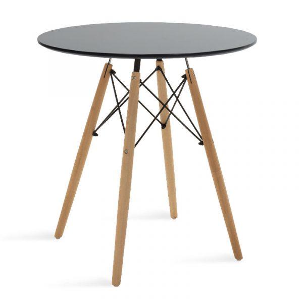 Τραπέζι Julita pakoworld Φ70 επιφάνεια MDF μαύρο