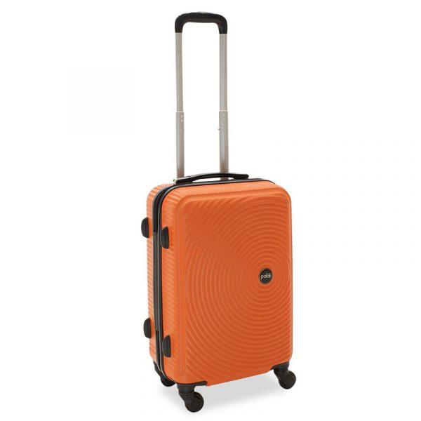 Βαλίτσα καμπίνας  Polar pakoworld με 4 ρόδες σκληρή από ABS+PC πορτοκαλί 38x22