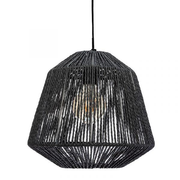 Φωτιστικό οροφής Jily pakoworld Ε27 μαύρο Φ29x26.8εκ