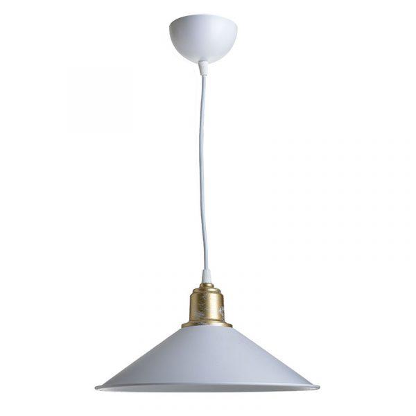 Φωτιστικό οροφής PWL-0964 pakoworld Ε27 λευκό-bronze antique Φ30x62εκ