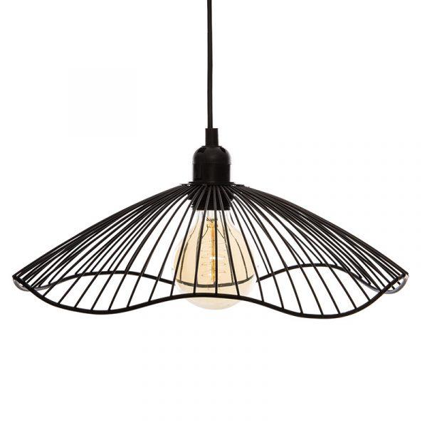 Φωτιστικό οροφής Galt pakoworld Ε27 μαύρο Φ34x15.5εκ
