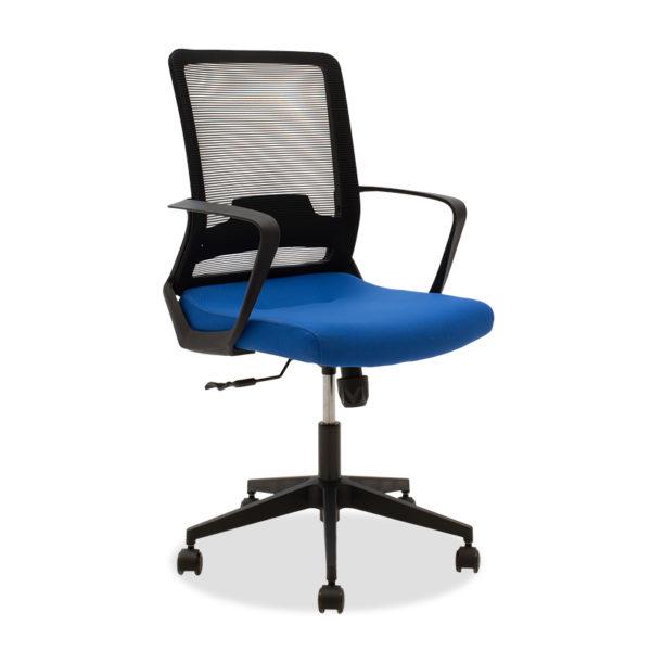 Καρέκλα γραφείου εργασίας Cage pakoworld mesh μαύρο-μπλε