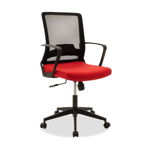 Καρέκλα γραφείου εργασίας Cage pakoworld mesh μαύρο-κόκκινο