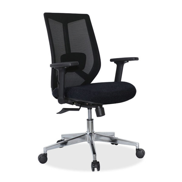 Καρέκλα γραφείου εργασίας Dalia pakoworld ύφασμα μαύρο