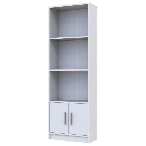 Βιβλιοθήκη Libot pakoworld λευκό 60x29x180εκ