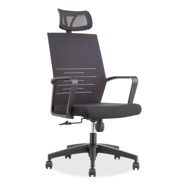 Καρέκλα γραφείου διευθυντή Eban pakoworld mesh μαύρο