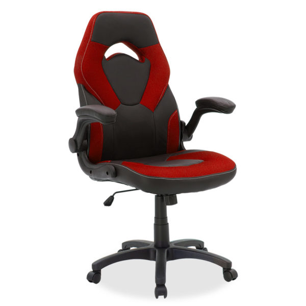 Καρέκλα γραφείου Wolf gaming pakoworld pu μαύρο-mesh κόκκινο
