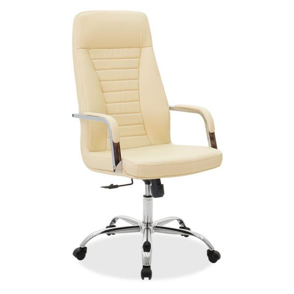 Καρέκλα γραφείου διευθυντή Paolo pakoworld pu ivory