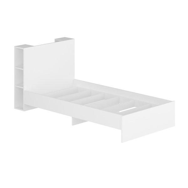 Κρεβάτι παιδικό Cassy pakoworld λευκό 90x190εκ