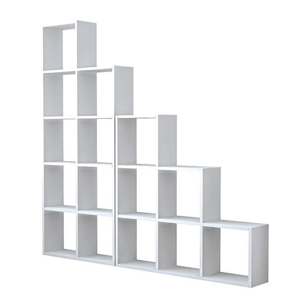 Βιβλιοθήκη Sacha pakoworld λευκό 162