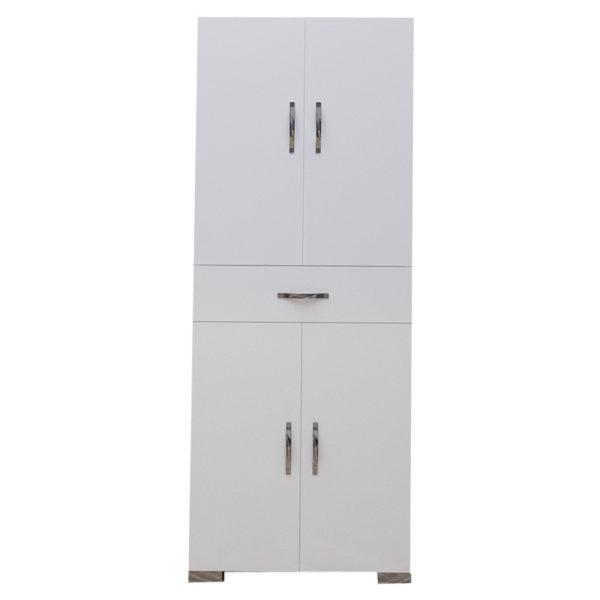 Ντουλάπα-στήλη Milou pakoworld λευκό 59x34.5x140εκ