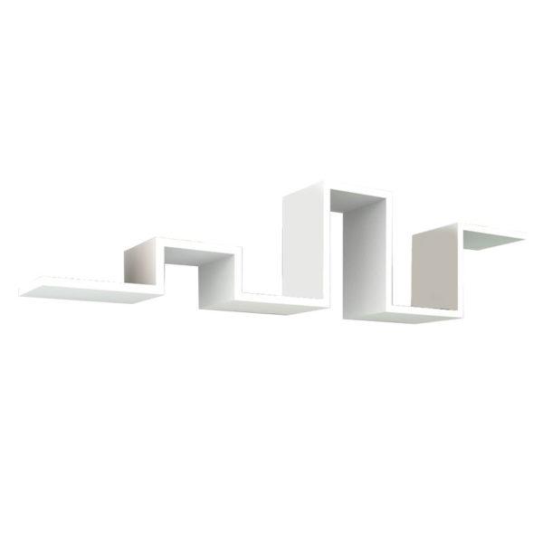 Ραφιέρα τοίχου Seneca pakoworld λευκό 131x22x30εκ